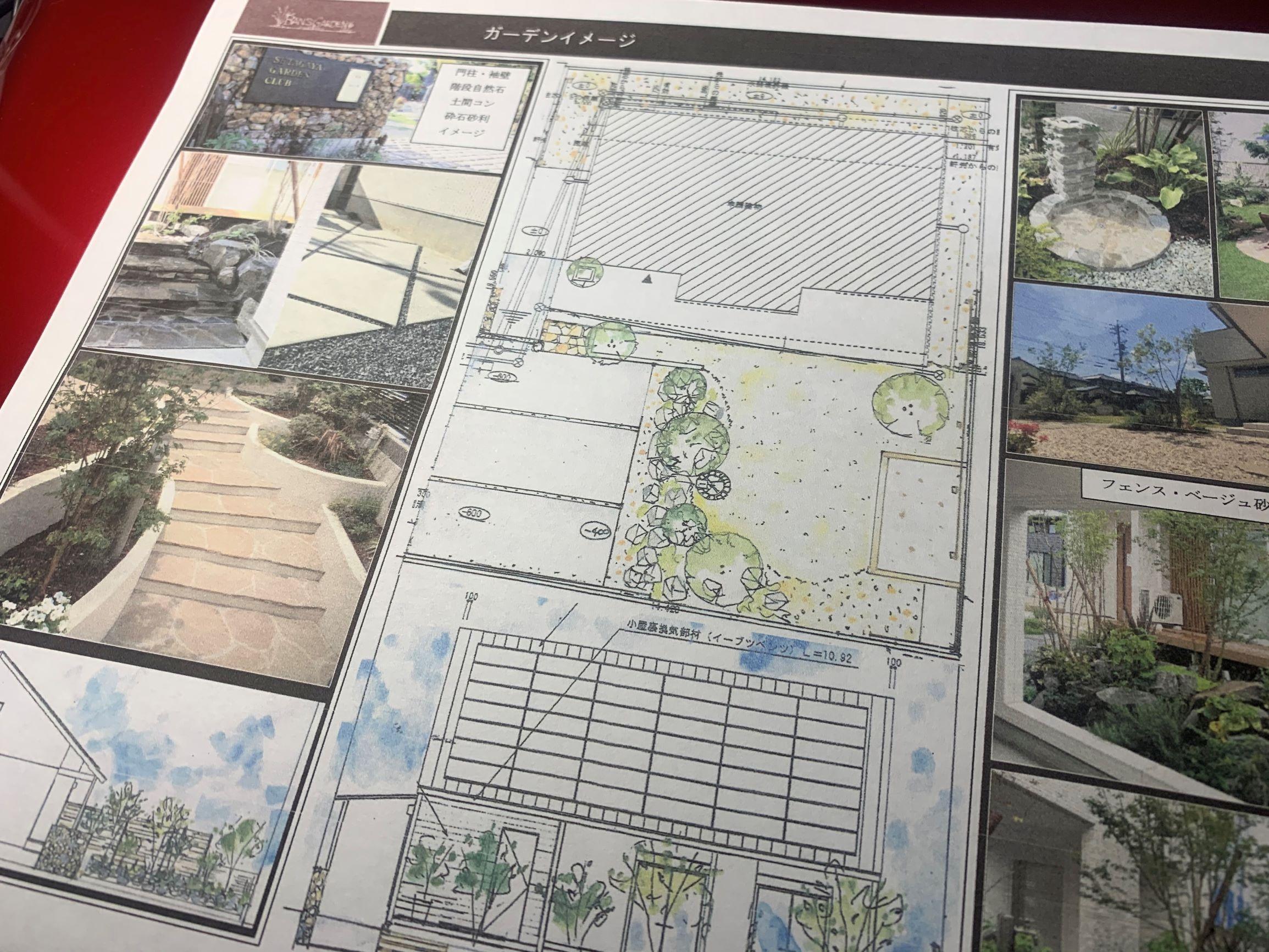岡崎ガビオン門柱の似合う庭。いよいよスタート。のイメージ