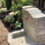 天白自然石立水栓のある庭。施工完了。のイメージ